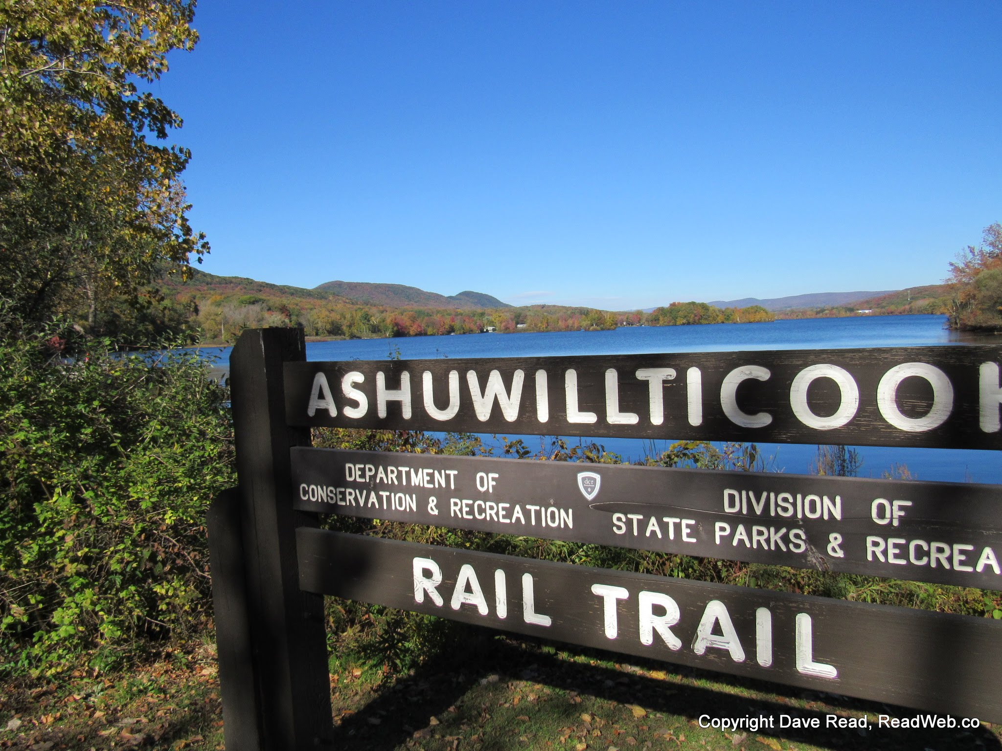 Ashuwillticook Rail Trail, Cheshire Reservoir, Cheshire, MA