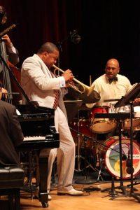 Wynton Marsalis performs with his quintet, Ozawa Hall Tanglewood , Aug.20, 2012; photo:Hilary Scott.
