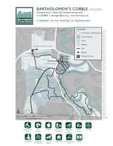 Bartholomew's Cobble trail map