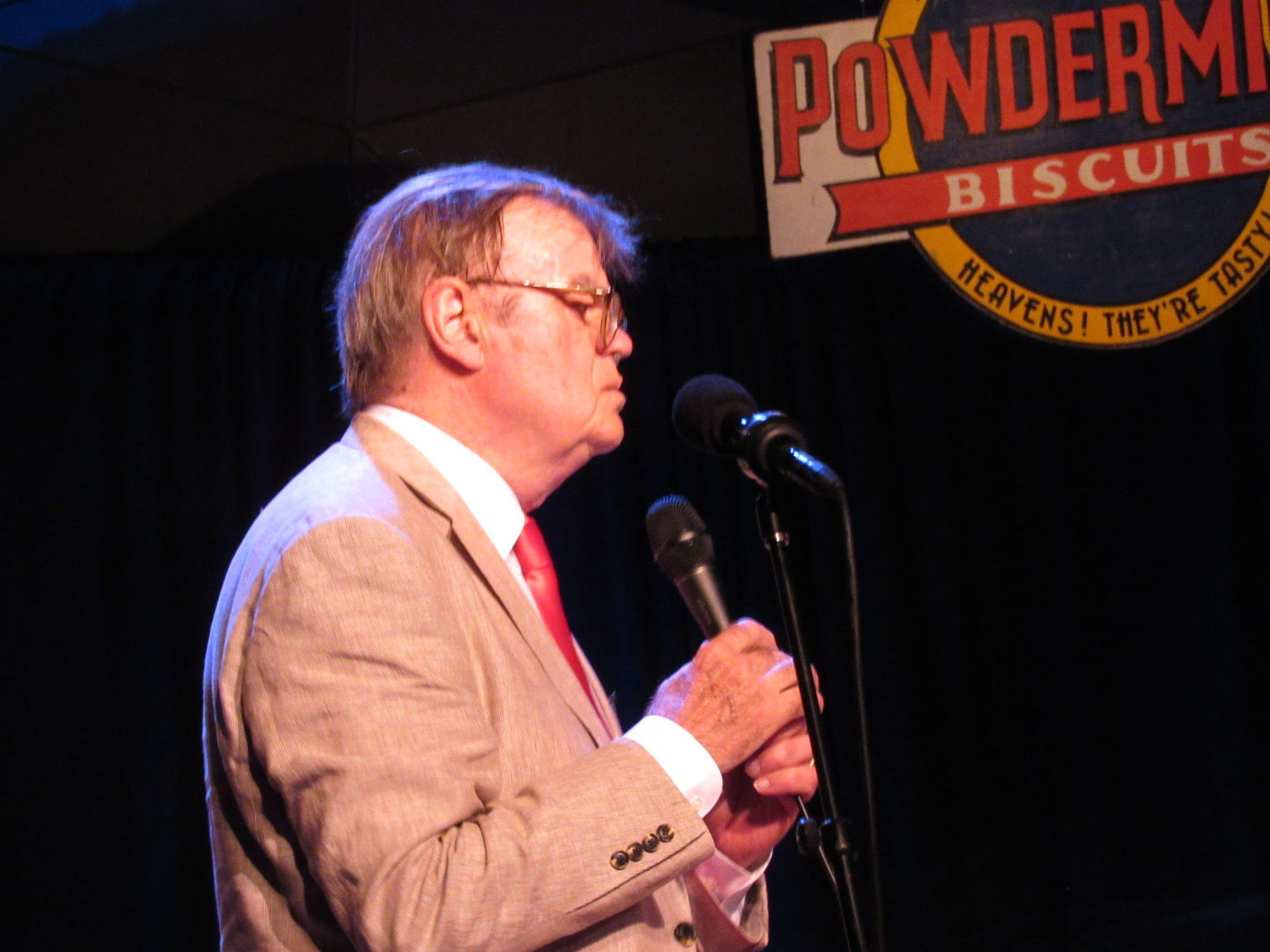 Garrison Keillor's final performance at Tanglewood on A Prairie Home Companion; photo: Dave Read, BerkshireLinks.com.