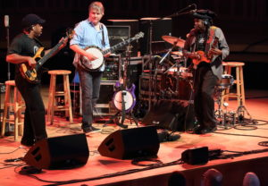 Bela Fleck and the Original Flecktones at Tanglewood, June 29, 2018; photo: Hilary Scott.