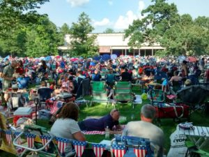 James Taylor at Tanglewood July 4, 2018 lawn audience