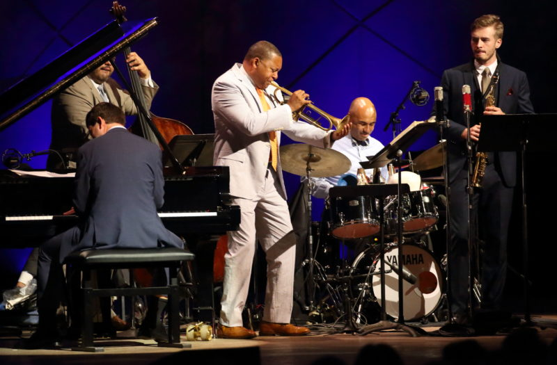 Wynton Marsalis Quintet at Tanglewood Sept. 1, 2018; Hilary Scott photo.
