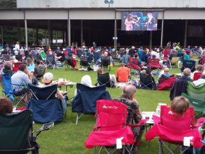 Lawn scene Live From Here at Tanglewood, June 15, 2019; photo Dave Conlin Read